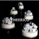 5 Tier Cascading Wedding Acrylic Cake Stands
