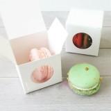 White Macaron Box for 2 Macarons($1.10/pc x 25 units)