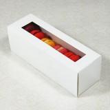 6 White Window Macaron Boxes($1.80/pc x 50 units)